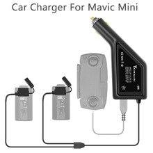 Chargeur de voiture 3 en 1 pour DJI Mavic Mini chargeur de batterie Intelligent Mini connecteur de voiture Mavic adaptateur USB batterie Multi 2