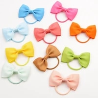 hair ties bows elastic hair girl hair accessories bowknot hair bands childrens hair tie 20 colors candy color baby hair bands