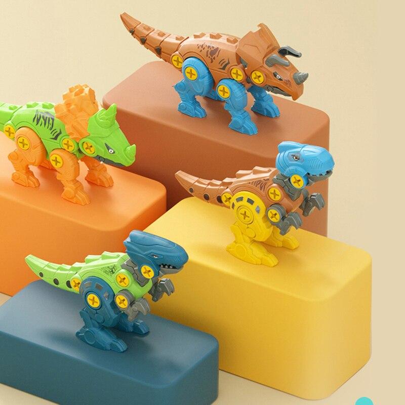 Игрушки для раннего обучения для детей разборка динозавр Мультяшные животные сборные блоки гайка разборка игрушки