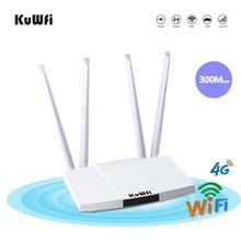 KuWFi 4G LTE Router CAT4 150Mbps Indoor 4G CPE SIM Karte Wifi Route Entsperrt FDD/TDD karte Unterstützung 32 WiFi Benutzer RJ45 WAN LAN