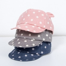 Children Sun Hats Toddler Cap Cute Dot Baby Cap Girl Boys Sun Hat With Ear For Spring Newborn Photography Props Baseball Cap