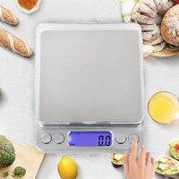 Кухонные весы из нержавеющей стали с точным взвешиванием, домашняя посуда для кофе, еды, диетические весы, точные электронные весы с ЖК-дисп...