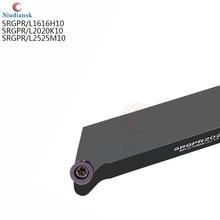 SRGPR2020K10 1616H10 srgpl25m10 SRGPL2020K10 قابلة للفهرسة الخارجية تحول أداة حامل ، RPMT10T3 إدراج ، حامل أداة قطع CNC