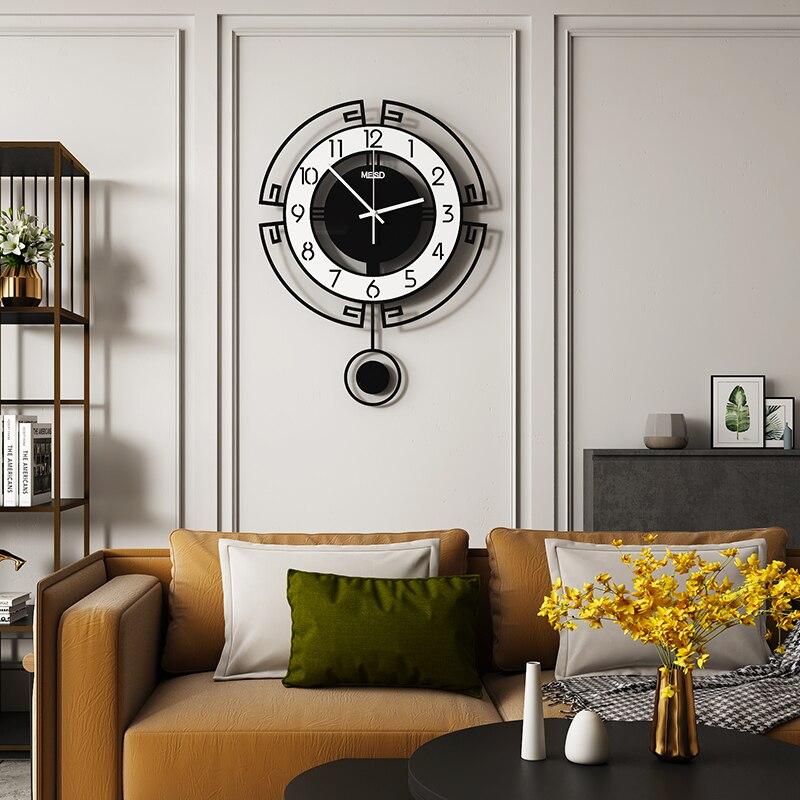 Quality Acrylic Wall Clock Home Decor Quartz Silent Modern Design Stickers Pendulum Watches Living Room Horloge Free Shipping