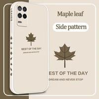 for oppo realme v15 v13 v11 q3i x7 gt xt pro case soft liquid silicone maple leaf protective back cover
