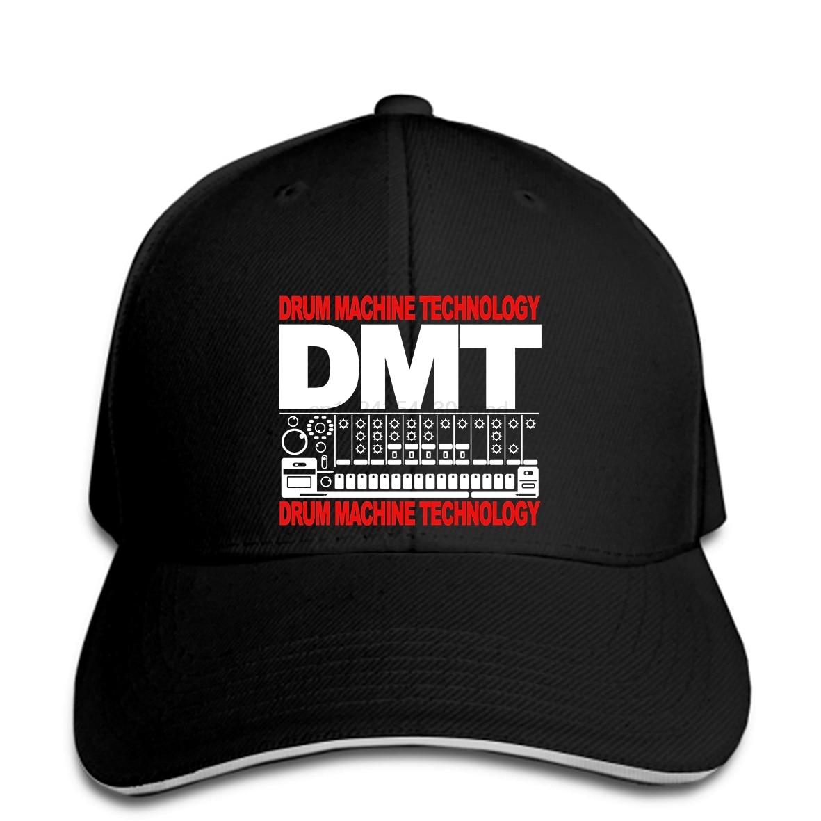 Gorra de béisbol Dmt tambor de la máquina de la tecnología de la Dj de música Rave Festival Hombres estilo de verano sombrero Casual gorra alcanzó su punto máximo