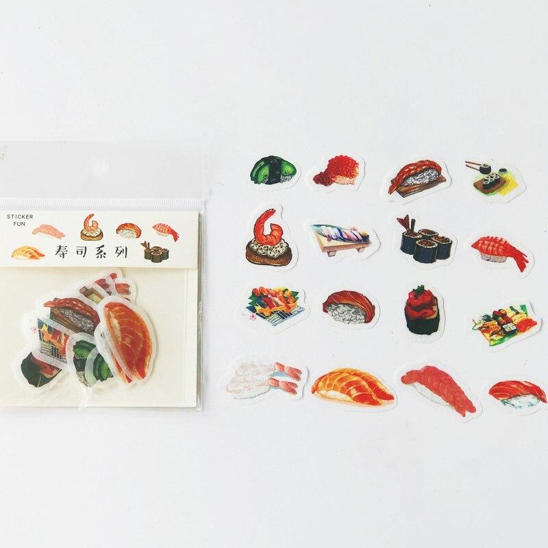 32 unids/pack Shsui arroz de papel de comida pegatinas DIY decorativas etiqueta engomada