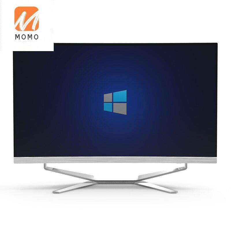 كمبيوتر AIO للألعاب بشاشة 24/27 بوصة وi3/i5/i7 بتصميم منحني فائق النحافة رخيص السعر للبيع بالجملة