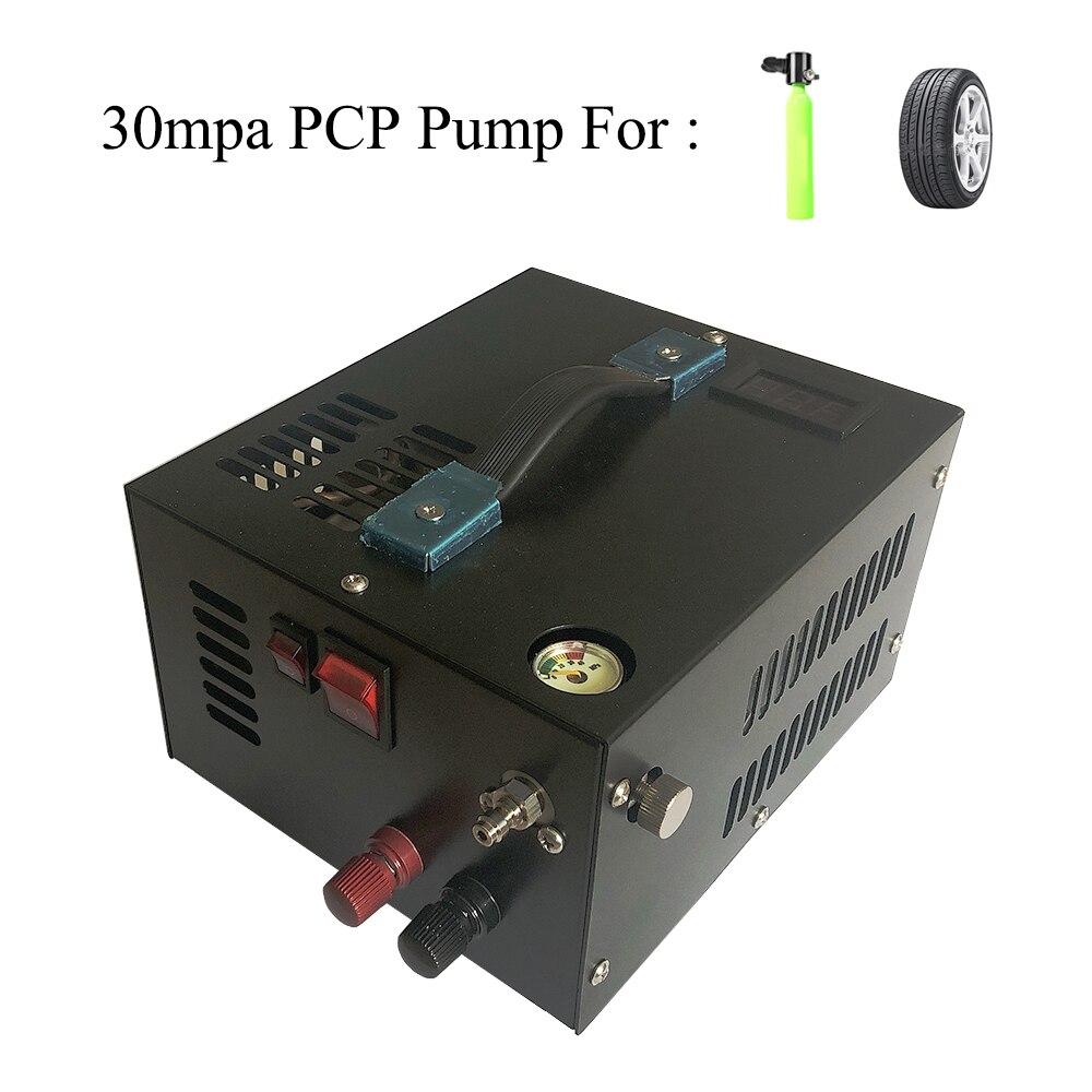 FÜR PCP Air Gun Aufblasbare Automobil Kompressor 4500psi 300bar 30mpa 12 v 12 v Miniatur Kompressor Einschließlich 220v Transformator