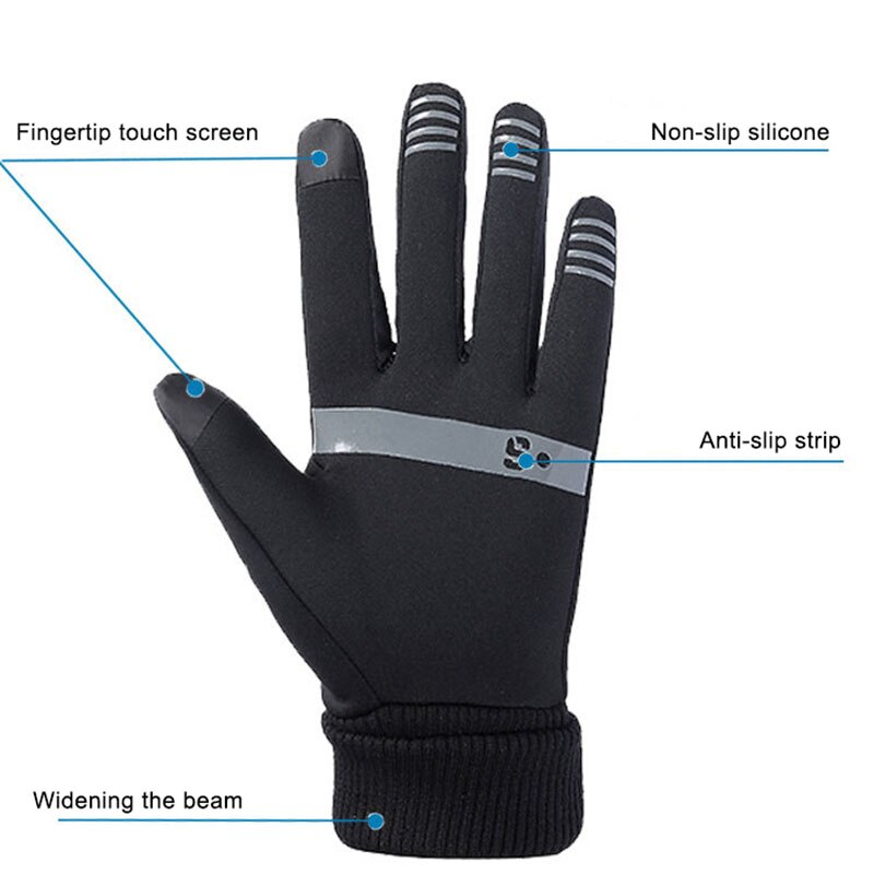 1 Pair Unisex Winter TouchScreen Gloves Soft Liner Thermal Walking Sports Running Mittens Winter Mittens Touched Screen Gloves