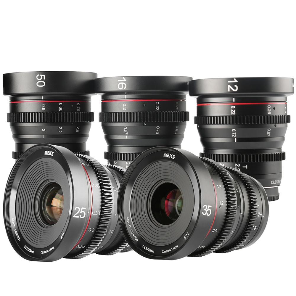 Meike T2.2 Cine lens Kit ( 5  lenses  25mm 35mm 50mm 65mm 85mm ) with a Cine Lens Case-Fast Delivery
