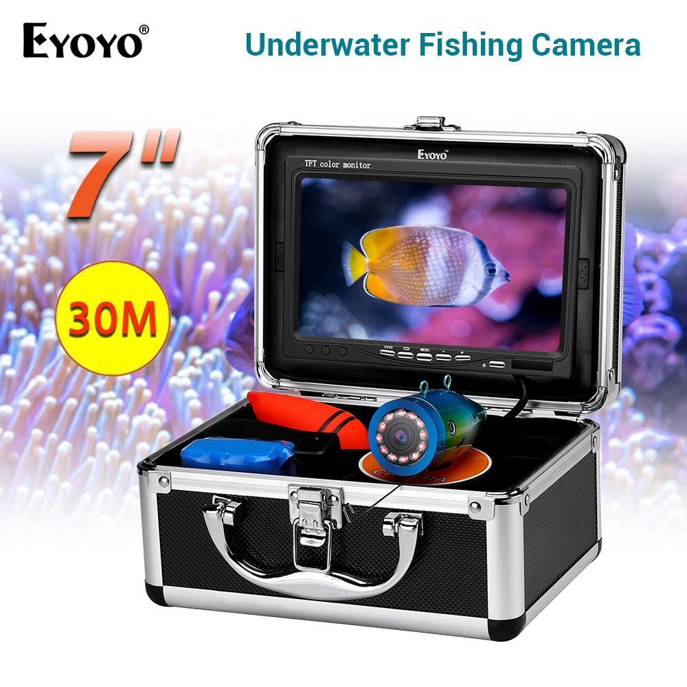 Eyoyo CR110-7 Originele 15M 6400Mah Onderwater Vissen Camera Fish Finder Waterdichte Onderwater Camera Voor Vissen 12Pcs Infrarood