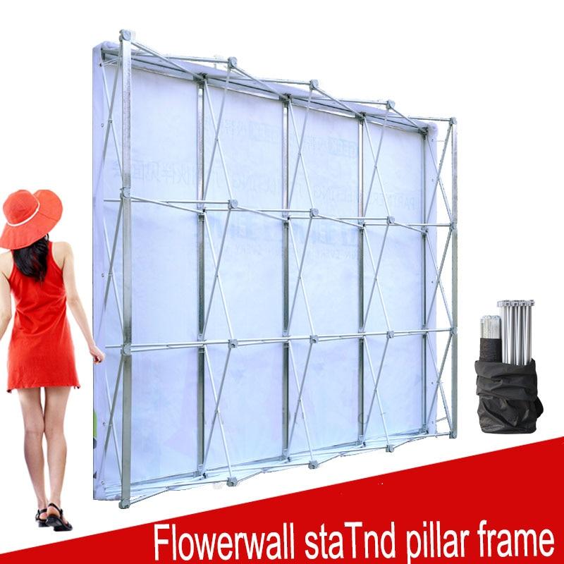 إطار حائط قابل للطي من الألومنيوم ، لخلفيات الزفاف ، لافتة مستقيمة ، لعرض المعارض الإعلانية التجارية