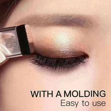 Makyaj 3 saniye göz farı makyaj çift katmanlı renkli derecelendirme göz farı + fırça kozmetik