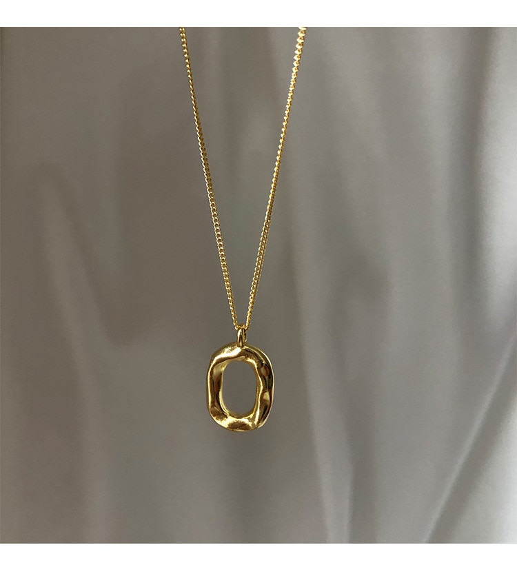 Minor Design Korea Geometric Oval Donut Round Clavicle Chain Necklace Gold Color Short Necklaces For Women Party Jewelry luxury  - buy with discount