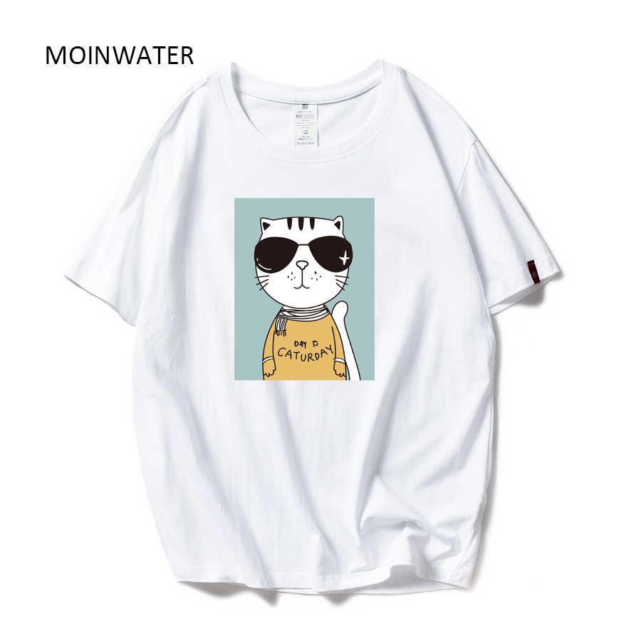Camisetas Con Estampado Moinwater Para Mujer Camisetas De Manga Corta De Algodón Con Patrón De Ballena Para Mujer Camisetas Informales De Verano Para Mujer Mt19132 Camisetas Aliexpress