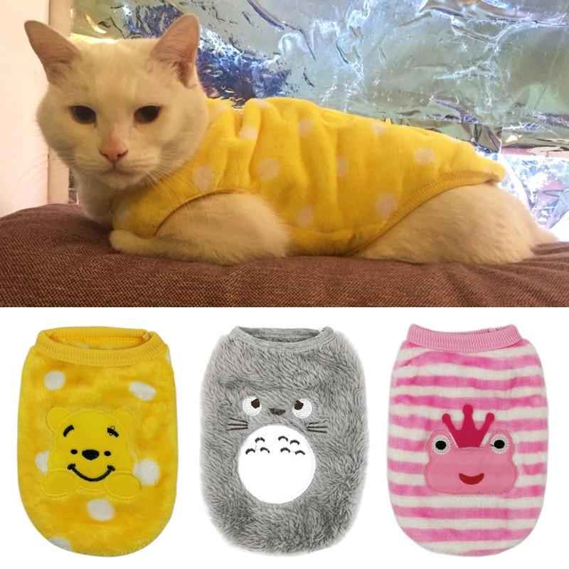 Ropa de Gato cálida de otoño e invierno para gatos Sphynx, abrigo suave de lana de gatito, chaquetas, lindos disfraces de gato de dibujos animados, ropa para mascotas