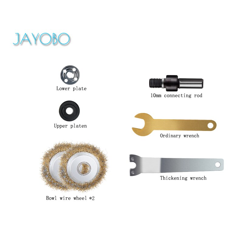 JAYOBO (Cepillo de alambre)Para Conectar Conjunto De Varillas De Mano Taladro Eléctrico...