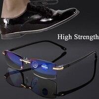 2020 высокопрочные очки для чтения для мужчин и женщин с защитой от сисветильник, портативные безободковые женские мужские пресбиопические б...
