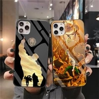 escanor seven deadly sins phone case tempered glass for iphone 12 pro max mini 11 pro xr xs max 8 x 7 6s 6 plus se 2020 cover