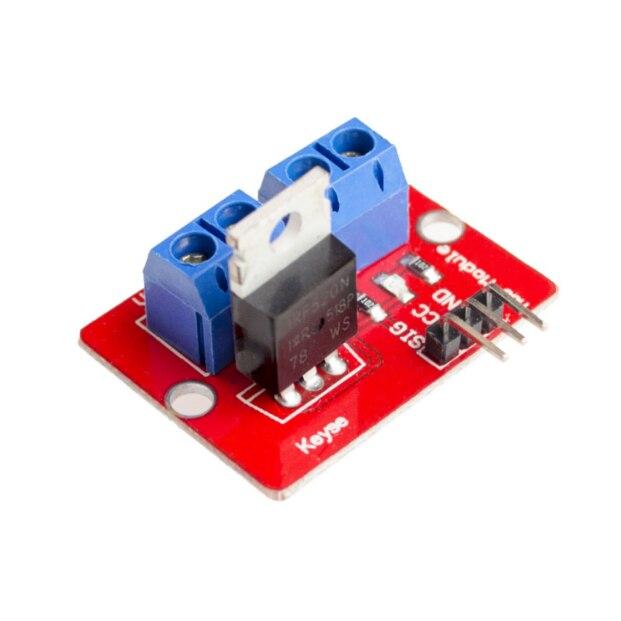 10 unids/lote módulos IRF520N 0-24V botón Mosfet superior IRF520 MOS módulo de controlador para brazo MCU