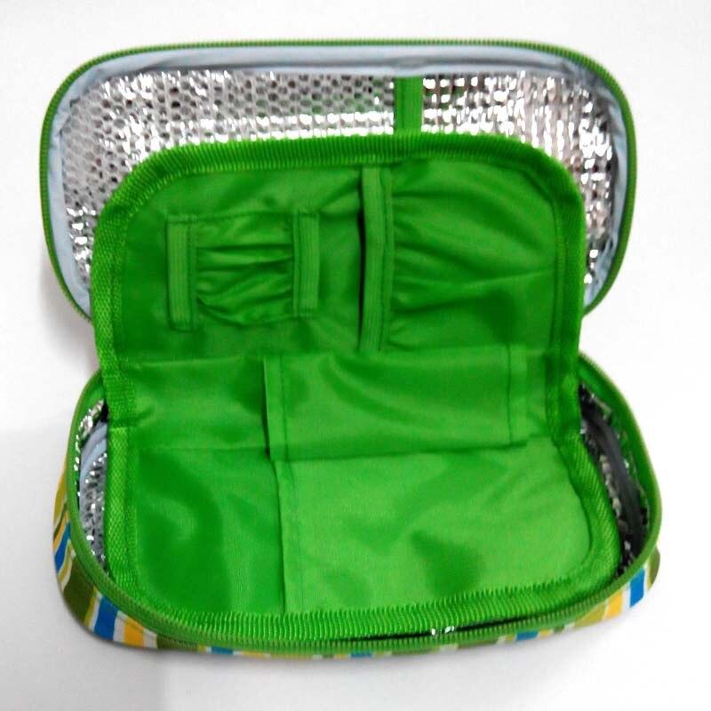 Bolsa de almacenamiento de insulina para medicina portátil, bolsa de nevera para la Diabetes, funda para bolígrafos de insulina, bolsa térmica para viajes, bolsa térmica médica