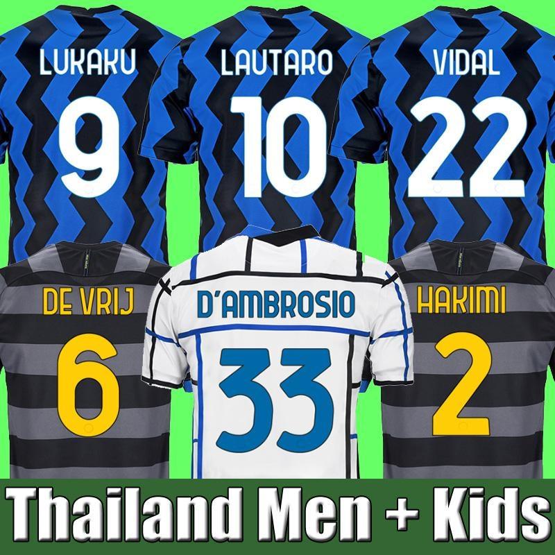 Adult suit 20 21 LUKAKU ALEXIS camisa de futebol Inter and Milan Milao 2020 2021 jersey SKRINIAR adult suit KIDS jersey shirt