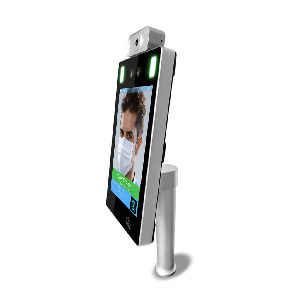 200W Capacitive touch screen door Access System Fever Alarm kiosk pay stand face recognition device enlarge