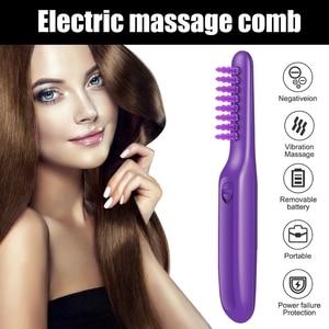 Electric Detangling Brush Hair Curly Detangle Brush Scalp Massage Comb M2EE