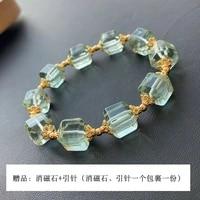 genuine natural green fluorite quartz bracelet 10x10mm clear cube rectangle beads rare women men jewelry love aaaaa