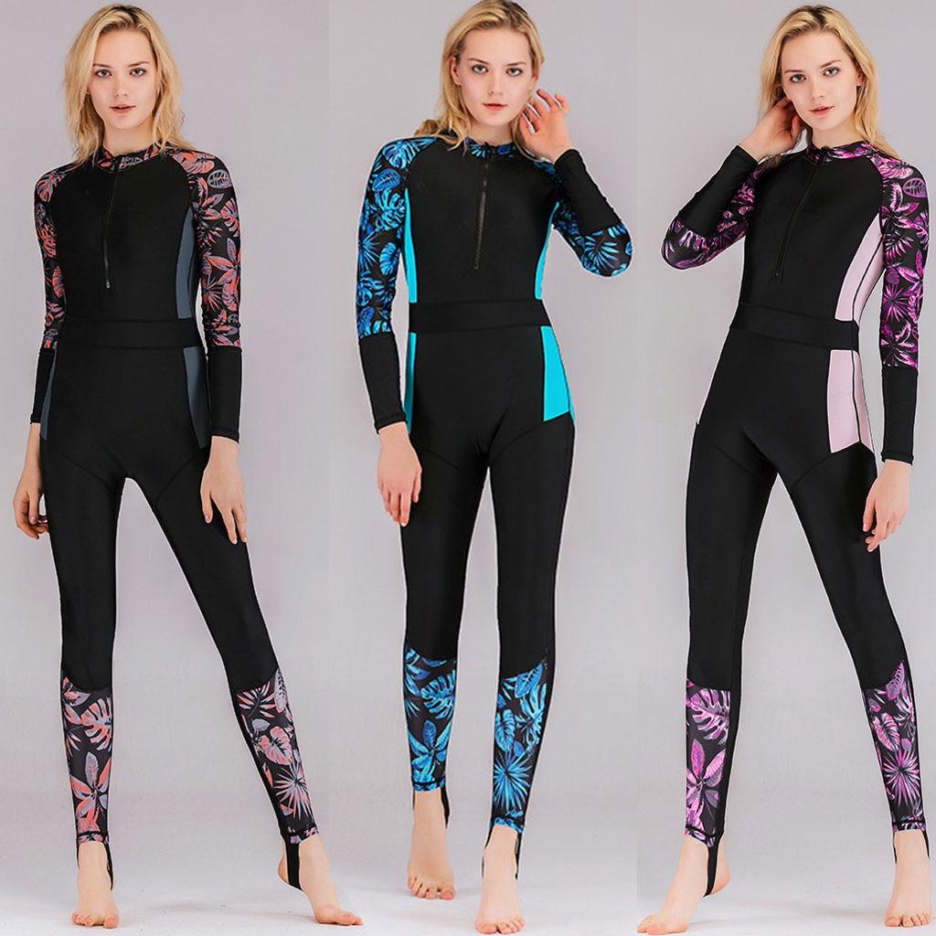 Hisea mujeres 3 mm SCR neopreno traje de neopreno de alta elasticidad costura de color Surf traje de buceo equipo Medusa ropa de manga larga