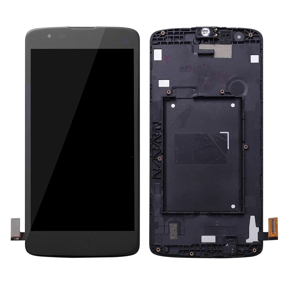Pantalla LCD para LG K8 LTE K350 K350N K350E pantalla LCD Digitalizador de pantalla táctil conjunto completo de repuesto para LG K350DS