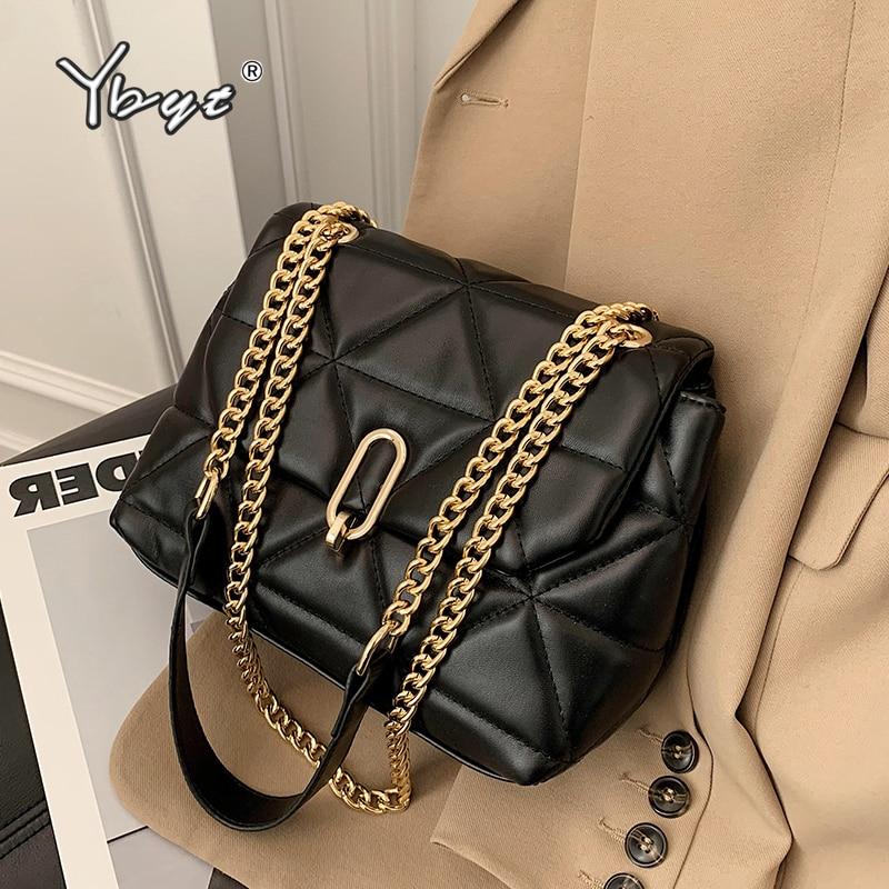 Diamond Lattice PU Leather Crossbody Bags For Women Fashion Chain Shoulder Bag Female Luxury Brand D