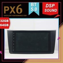 PX6 excellente Performance Android 9.0 GPS multimédia   Pour BENZ classe E W211 CLS W219 classe g-w463 DSP Navigation sonore