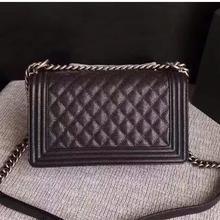 Novo designer de luxo genuíno couro das mulheres bolsa mensageiro bolsa feminina corrente bol