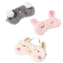 Travel Sleeping Eye Mask Rest Eye Shade  Alpaca Sleep Mask Pink Squint Rabbit Cartoon Koala Sleep Eye Mask