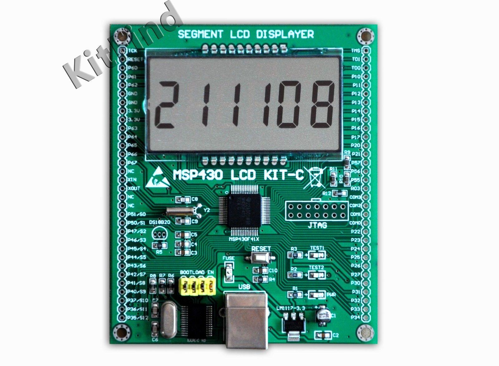 MSP430 مجلس التنمية 430 LCD لوحة تعليمية MSP430F413 قطعة LCD دون تحميل
