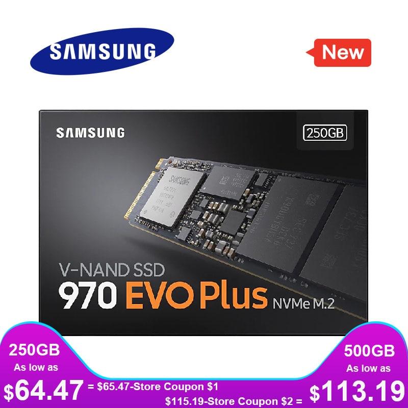 SAMSUNG SSD M.2 1TB 250GB 500GB 970 EVO Plus NVMe Internal Solid State Drive Hard Disk M2 2280 TLC PCIe Gen 3.0 x 4, NVMe 1.3