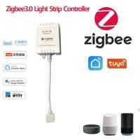 Zigbee3 0 Wifi RGB LAMPE A LED Bande Controleur DC 5V- 24V MUSIQUE Bluetooth RGBW Controleur de Bande DE LUMIERE Fonctionne Avec Alexa Google Home