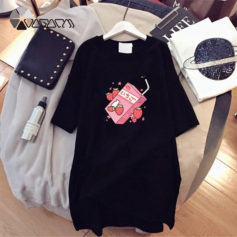 Harajuku Casual Summer Oversize Dress Women Cute Cartoon Print Mini Vestidos Short Sleeve Loose Party Student Tshirt Dresses