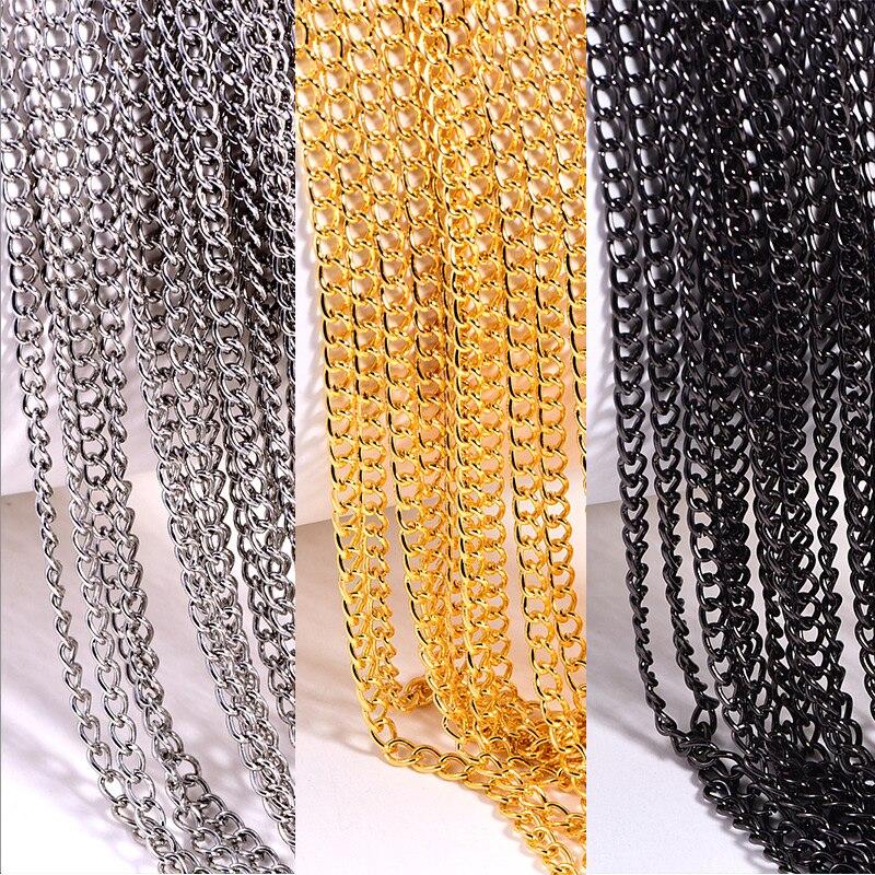 10 yardas 0,6mm/1mm cadena de Metal de coser accesorios de diamantes de imitación ropa accesorios de decoración para boda vestido B1328