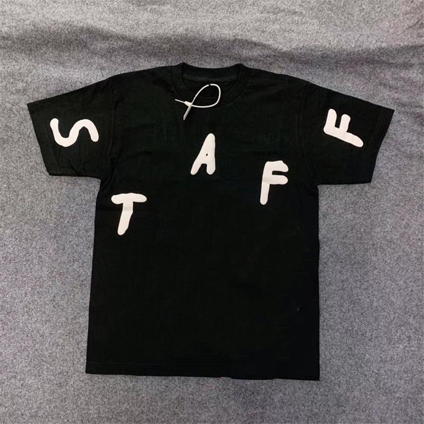 Camiseta de espuma 3D del Festival de Travis Scott Cactus Jack, camiseta de personal para hombres y mujeres, camiseta 2020ss, camiseta de astrorworld
