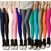 2020 new spring solid candy neon leggings for women high stretched female legging pants girl clothing leggins plus size