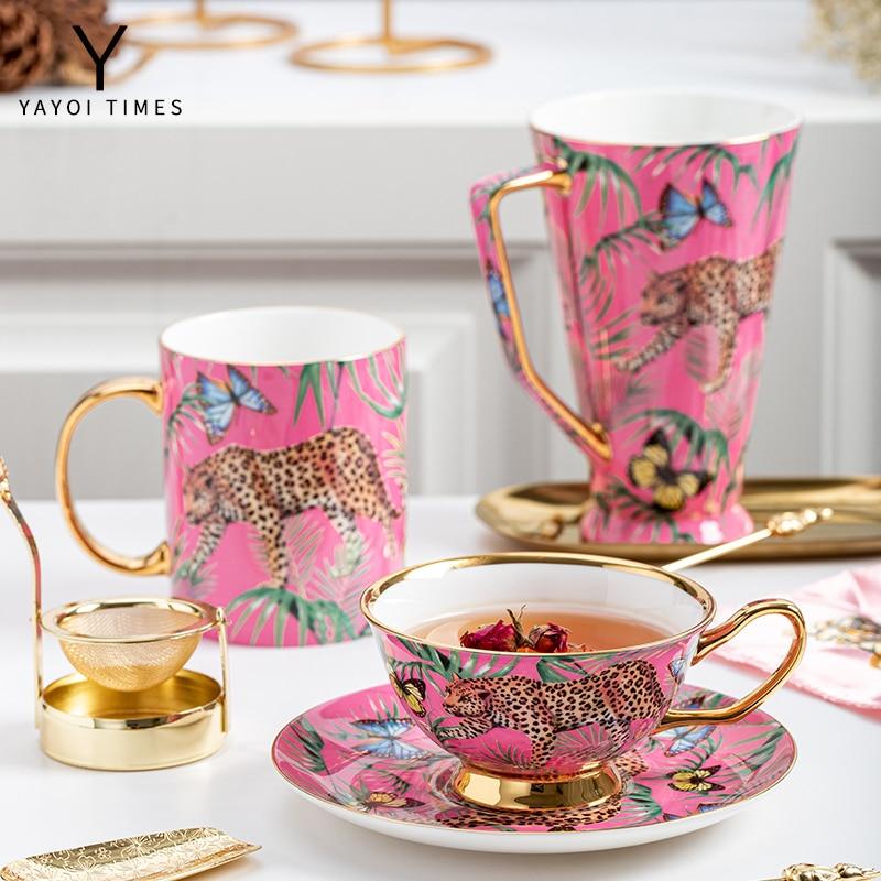 الوردي النمر yayoi عصر الألوان العظام الخزف c عصر هيئة التصنيع العسكري فنجان القهوة القدح سعة كبيرة كوب شخصية