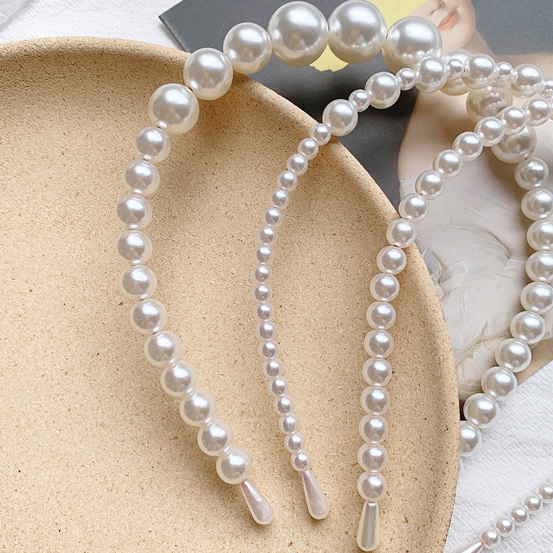2021 New Women Elegant Full Pearls Hairbands Sweet Headband Hair Bundle Lady Hair Hoops Fashion Accessories hair accessories  - buy with discount