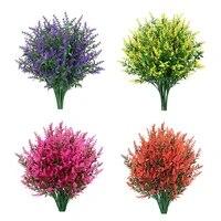 flower arrangement artificial flowers romantic provence simulation lavender christmas decor for livingrom garden vase 6 styles