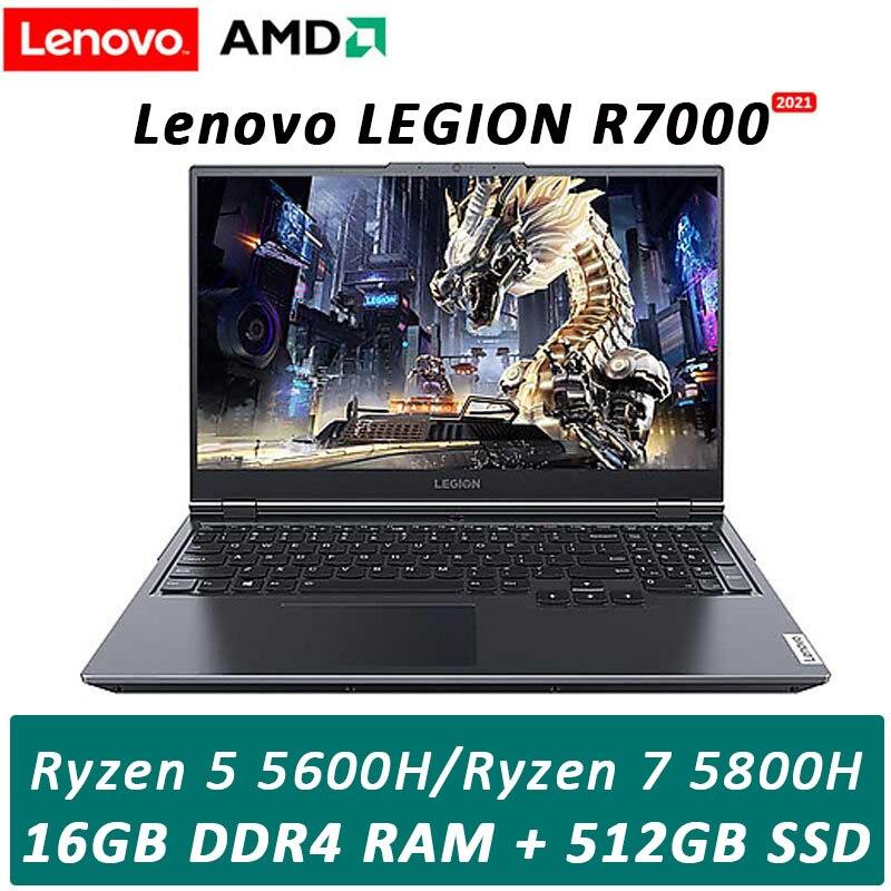 Lenovo Legion R7000 2021 New Gaming Laptop AMD R5-5600H/ R7-5800H High Refresh Rate IPS Full Screen Windows10 Backlit metal body