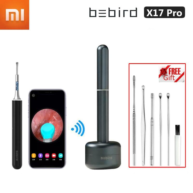 Endoscópio de Segurança Remoção de Cera de Ouvido Câmera com Base Xiaomi Bebird Visual Orelha Vara In-ear Alta Precisão Mais Limpo Mini X17 Pro