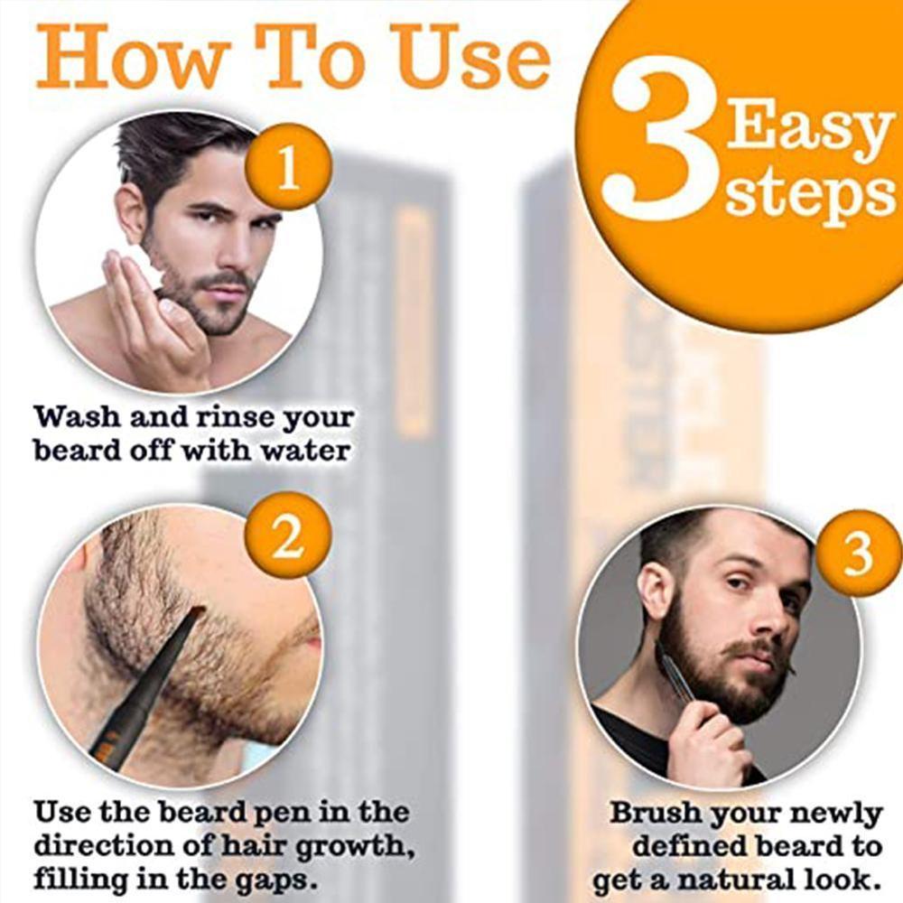 Men Beard & Mustache Beard Growth Kit With Beard Growth Derma Growth Roller Beard Patchy Oil Grooming Hair For Men Serum N5F5
