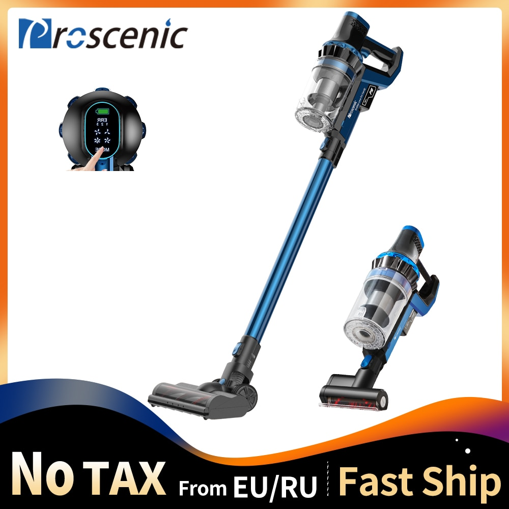 Proscenic P10 Cordless Handheld Vacuum Cleaner, 22000Pa Powerful Suction, LED Touch Screen, 3 Adjustable Suction Modes